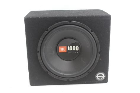 Speaker Subwoofer Jbl 12 jbl 12 quot 1000w subwoofer in carpeted speaker box property room