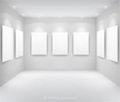 blank gallery wall free vector gallery display background museum bright light