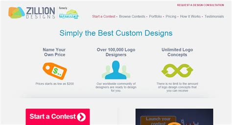 zillion design contest the best crowdsourcing sites for clients and designers