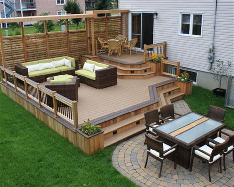 Wood Patio Designs Backyard Patio Ideas Landscaping Gardening Ideas