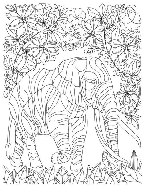 stress relief coloring pages elephant elephant animal adult coloring book stress relieving by