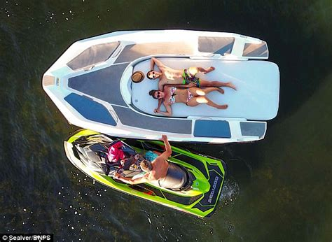 speed boat weight distribution wave boat 444 converts a jet ski into a five seater boat