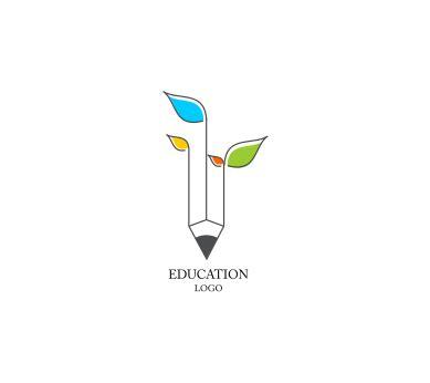 free kindergarten logo design education leaf school inspiration vector logo design