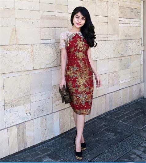 Dress Batik Baju Kerja Wanita 26 model baju batik kerja wanita terbaru yang elegan