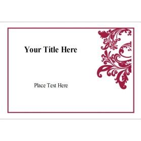 Labels 8 Per Sheet Template Word by Templates Flourish Name Badge Label 8 Per Sheet
