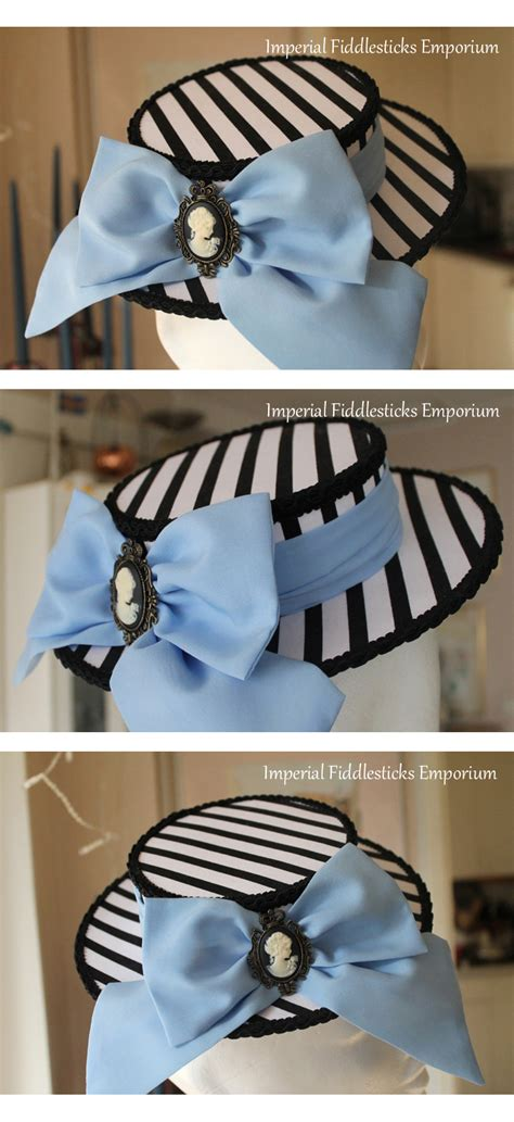 mini boater hat the unbirthday hat mini boater hat by imperialfiddlesticks
