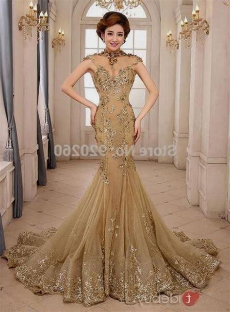 gold mermaid wedding dress 2016 2017   B2B Fashion