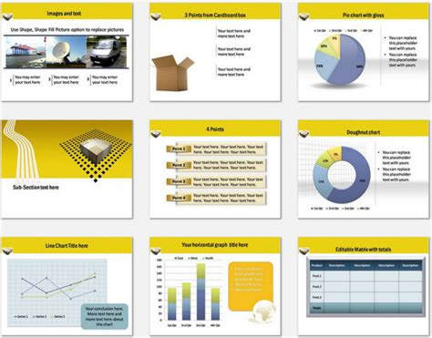 Powerpoint Logistics Delivery Template Logistics Ppt Template Free