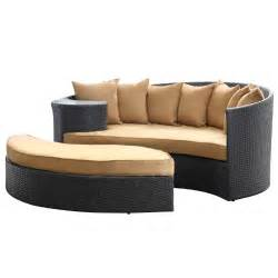 Outdoor Wicker Daybed Best Price With Lexmod Taiji Outdoor Wicker Patio Daybed With Ottoman In Espresso With Mocha