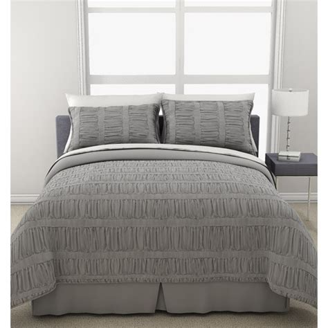 gray ruched comforter formula solid ruched bedding comforter set gray bedding