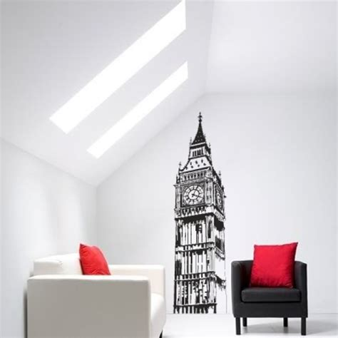 Sticker Letters For Walls big ben wall decals by couture deco