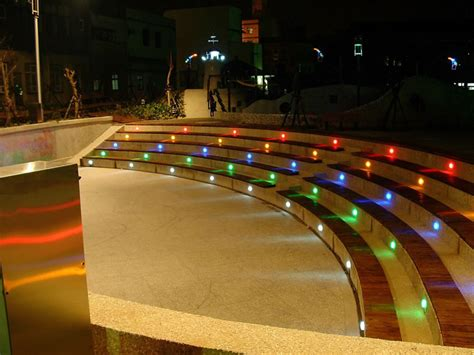 Colored Led Landscape Lighting Beautiful In Ground Landscape Lighting 3 Colored Led