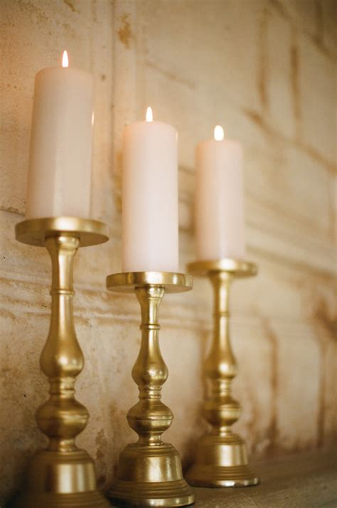 Gold Candle Holders For Wedding by Gold Pillar Candle Holders Elizabeth Designs The