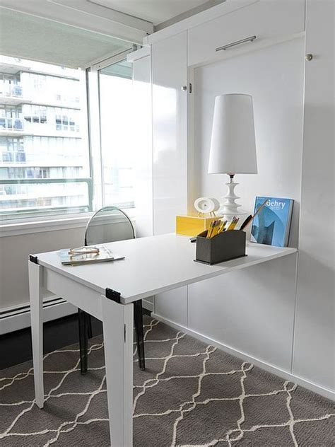 hideaway desk ideas  save  space shelterness