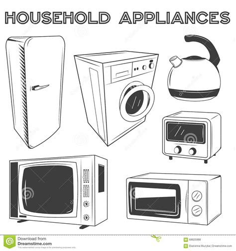 free kitchen appliances kitchen appliances vector free 28 images household