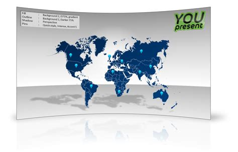 World Map Template For Powerpoint Youpresent Powerpoint Map Templates