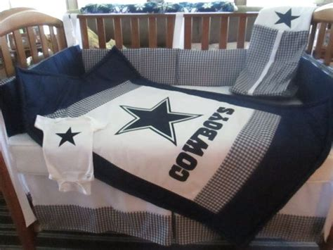 dallas cowboys bedroom dallas cowboys 6 piece crib bedding set by
