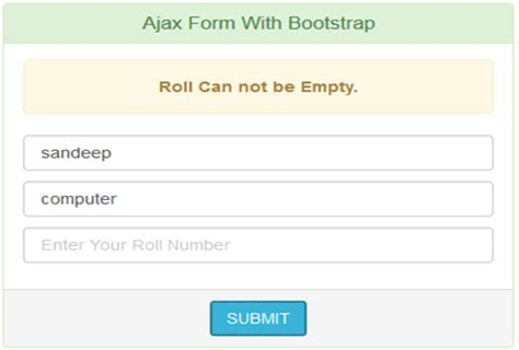 html input pattern not empty ajaxform asynchronous form submit tutorial