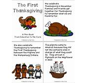 Printable Thanksgiving Pages From Books For First Grade