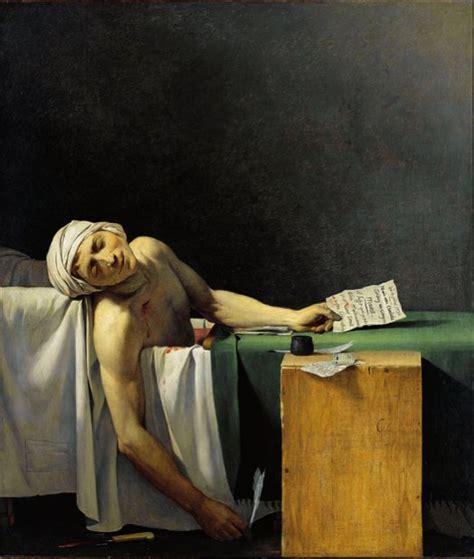 painting of dead man in bathtub file la mort de marat replica 1793 chateau de versailles jpg wikimedia commons