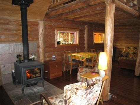 Log Cabin Wood Stove by A Tour Of The Monkey Valley House Visions