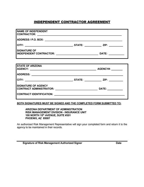 sample independent contractor agreement samples business document