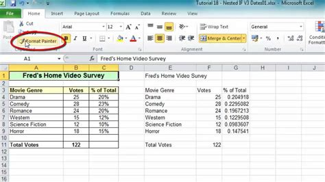 Format Painter In Excel 2007 | excel tip 006 format painter for ranges worksheets