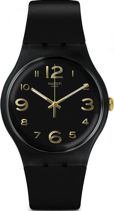 Swatch Suob138 damski czarny zegarek swatch suob138 na silikonowym pasku