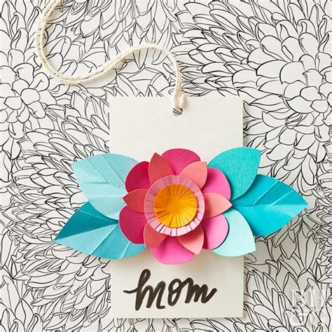 template that says cards glowers pretty paper flower cards