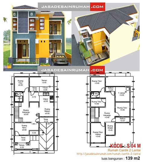denah rumah sederhana minimalis dua lantai images rumah minimalis