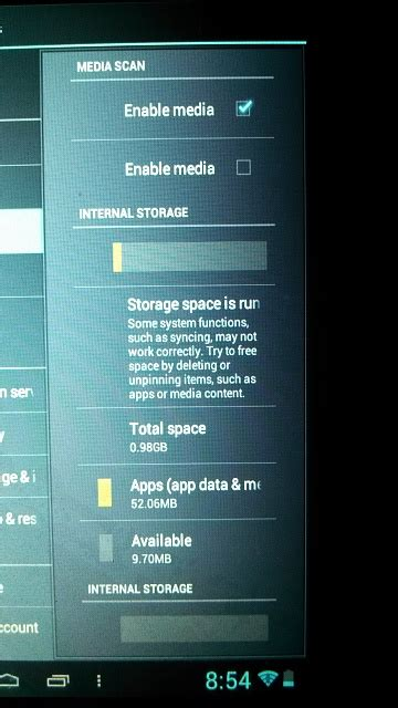 android storage space running out storage space running out on my 8gb a13 mid android
