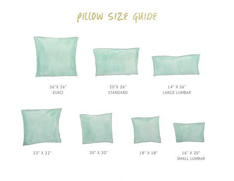 Size Pillows by Pillow Sizes Search Pillow Jardin Pillows