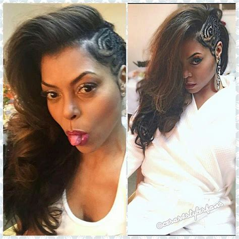 what type of hair does taraji henson weave get the look taraji p henson s side swept braid style
