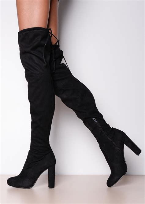 thigh high black heels black thigh high heel boots cr boot