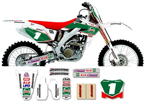 Decal Crf Kode 011 015 honda race team graphic kit castrol honda