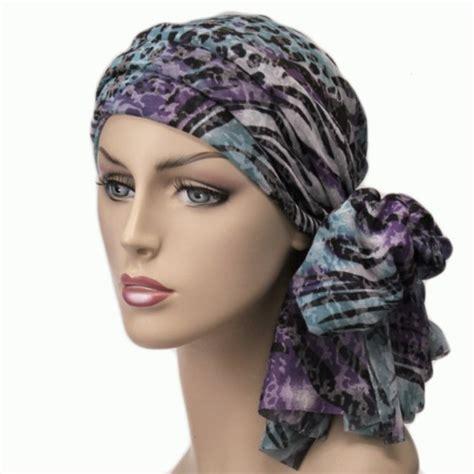 wrap turban alopecia chemo scarf zebra