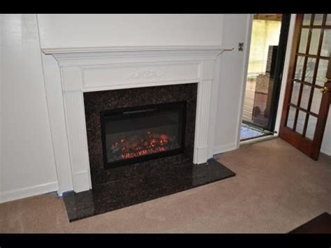 wood burning to electric fireplace conversion youtube