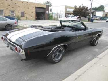1972 chevrolet chevelle ss clone convertible black for