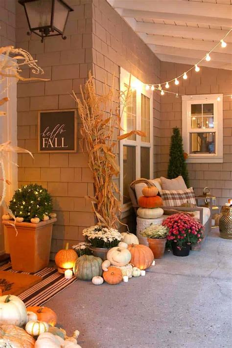 dreamy ideas  decorating  front porch  fall
