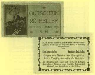 banken österreich notgeld in nieder 195 182 sterreich 1920 banknoten geldscheine