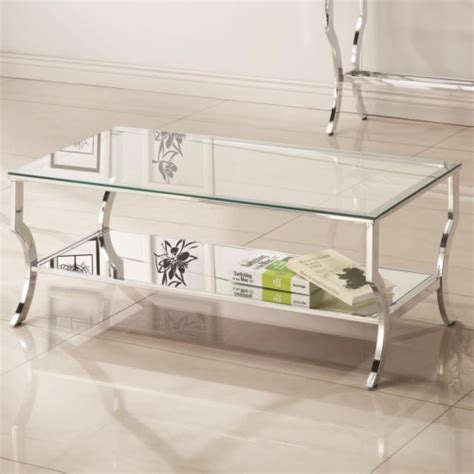 acme furniture adalyn coffee table coaster 72033 metal coffee table with glass top and