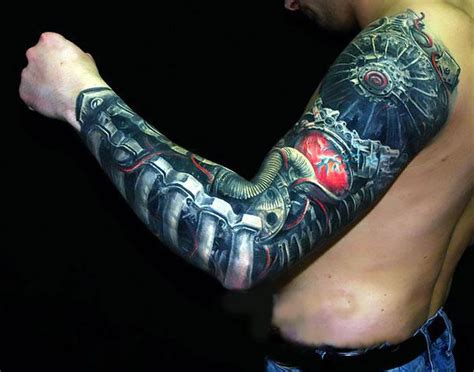 bionic arm sleeve tattoo designs bionic arm idea