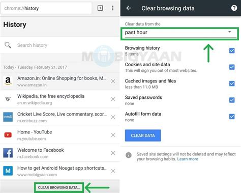 how to delete cookies on android clear history android vpnsecure whirlpool