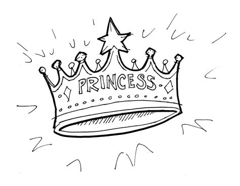 Princess Crown Coloring Page free crowns and tiaras coloring pages