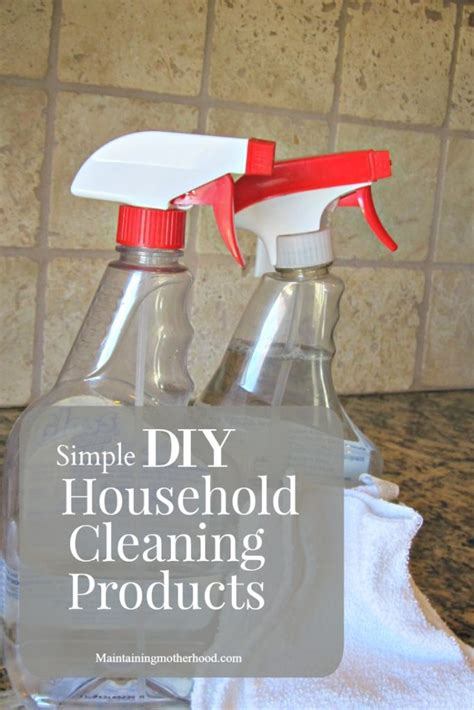 simple diy household cleaning products maintaining motherhood