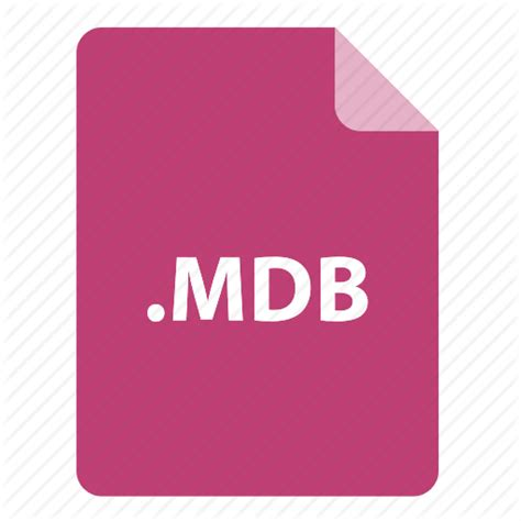format file mdb file file extension file format file type mdb icon