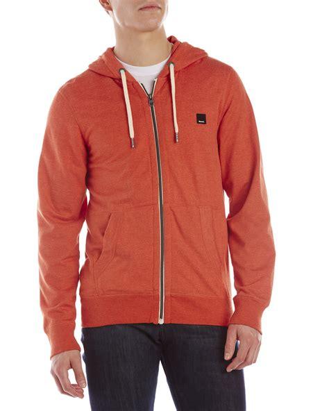 bench zip up hoodies lyst bench orange goodge zip up hoodie in orange for men