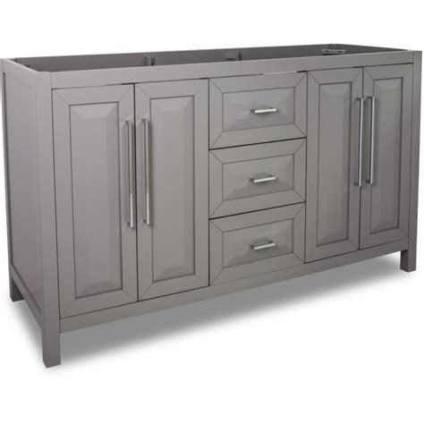 60 inch vanity base cabinet only jeffrey van100d 60 grey cade contempo collection