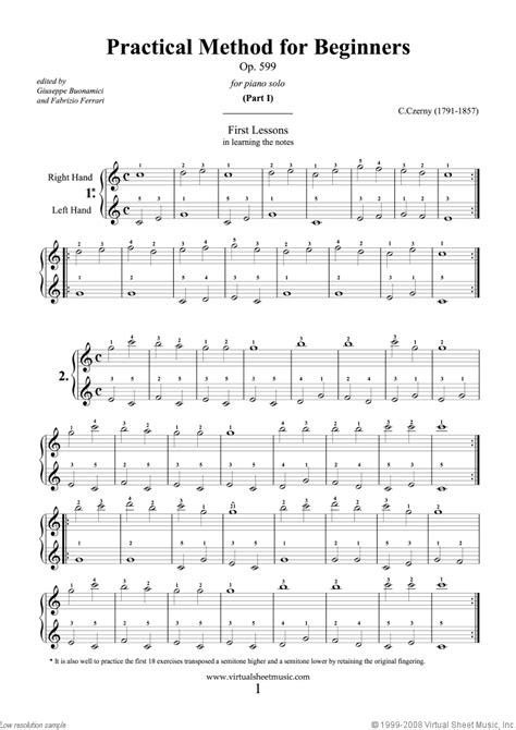 keyboard tutorial for beginners free piano sheet music for beginners for beginners op 599
