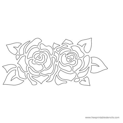 pics for gt rose template printable